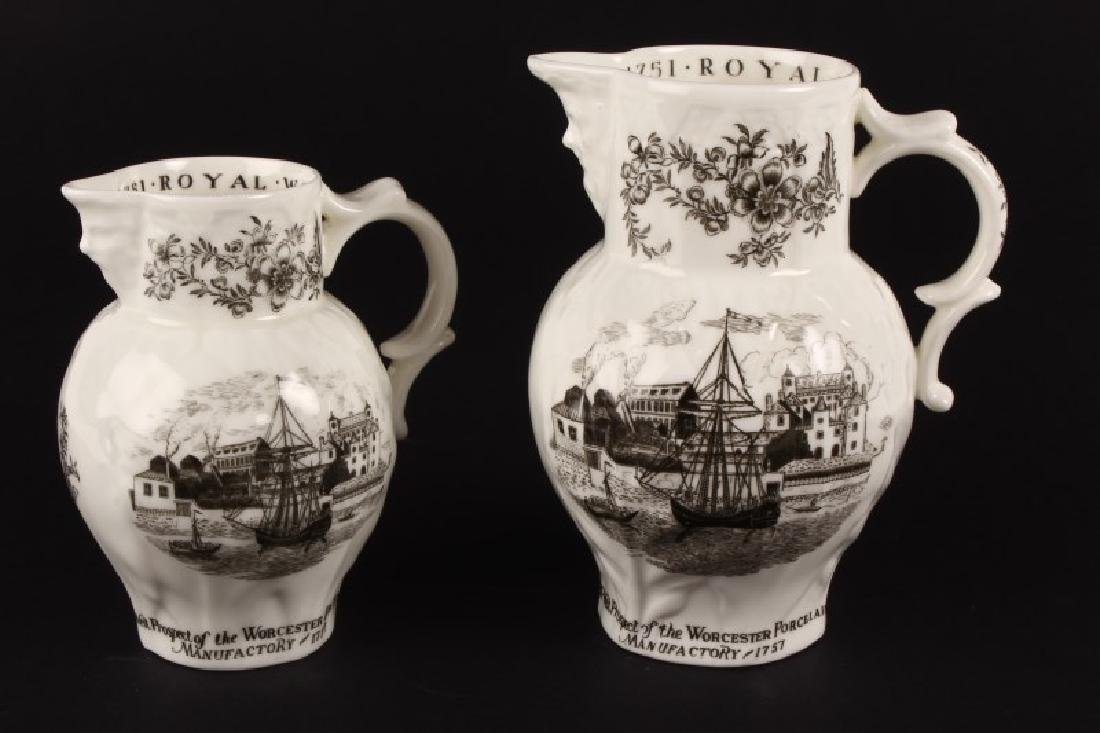 "Two Graduated Royal Worcester ""Bicentenary"" Jugs,"