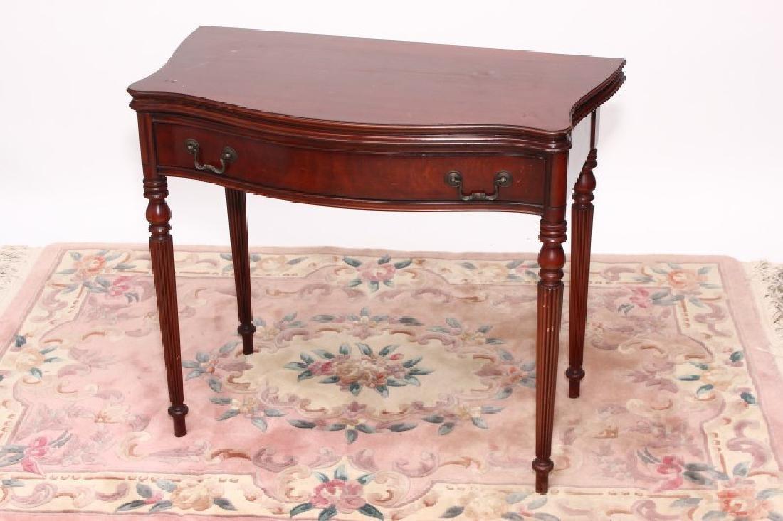 Regency Style Mahogany Card Table,