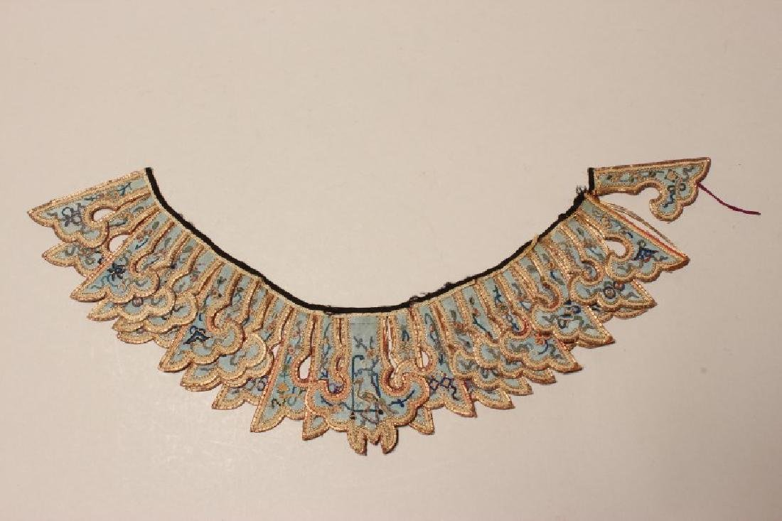 Chinese Embroidered Qing Dynasty Collar, - 2