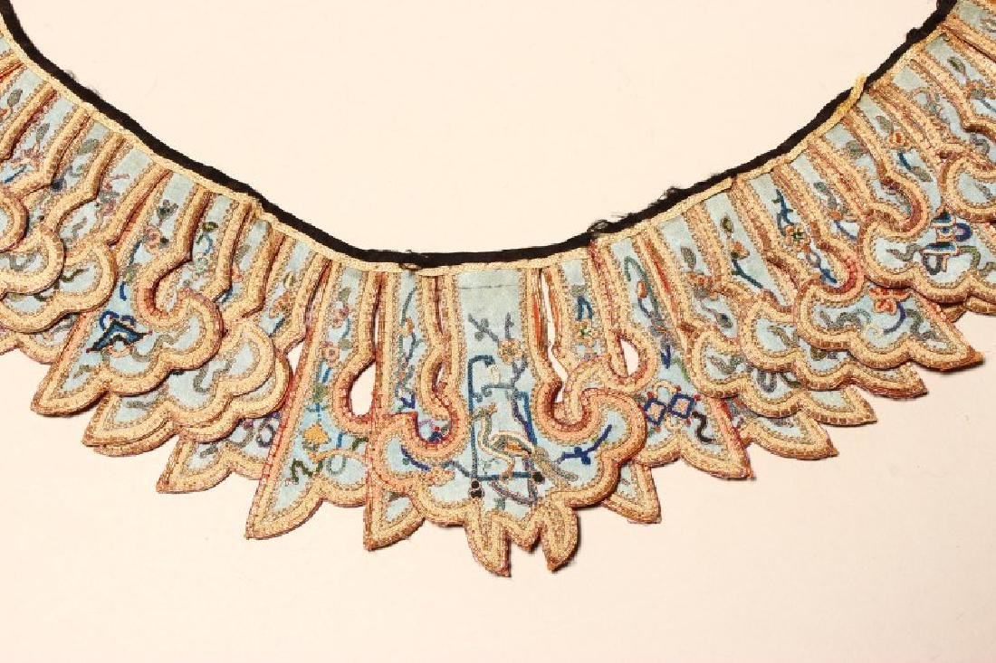Chinese Embroidered Qing Dynasty Collar, - 4