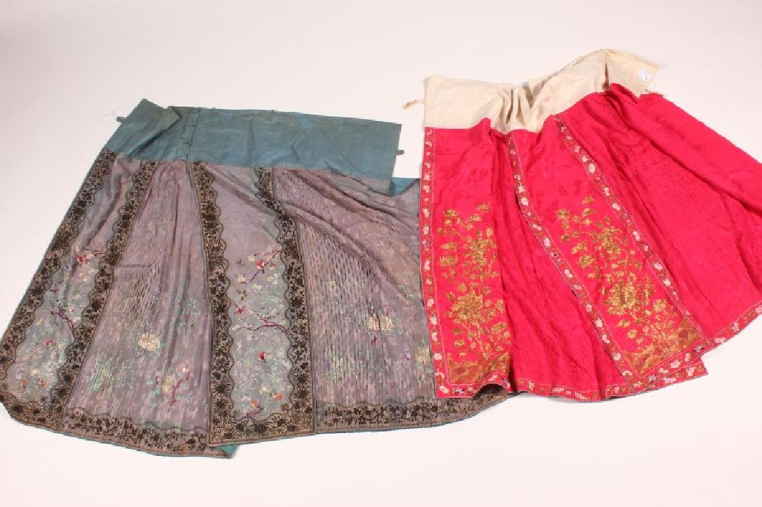Two Late Qing/Early republic Cantonese Skirts,