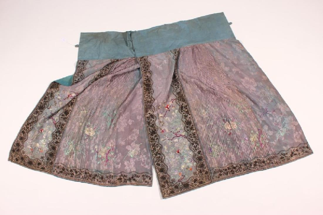 Two Late Qing/Early republic Cantonese Skirts, - 2