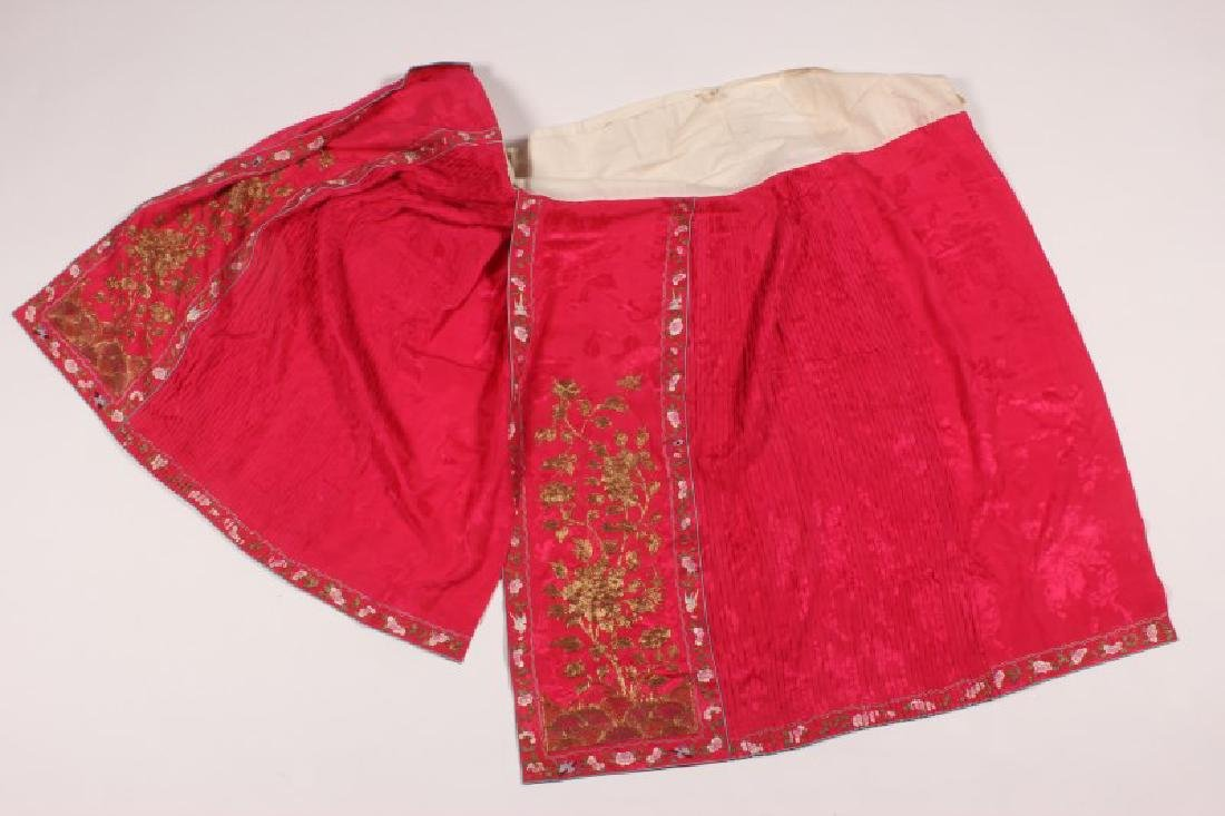 Two Late Qing/Early republic Cantonese Skirts, - 6
