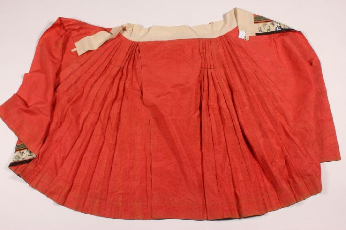 Chinese Late Qing Dynasty Skirt, - 10