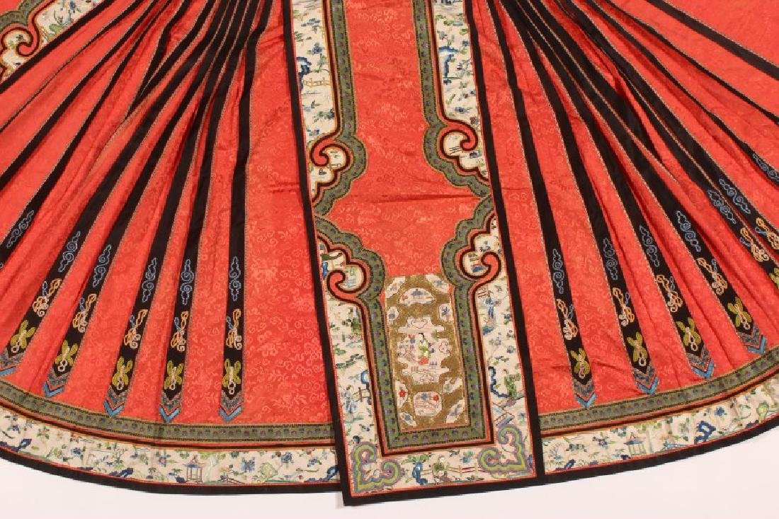 Chinese Late Qing Dynasty Skirt, - 2