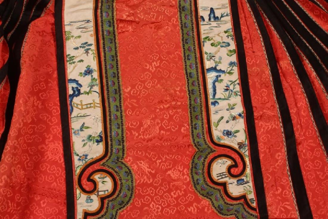Chinese Late Qing Dynasty Skirt, - 4