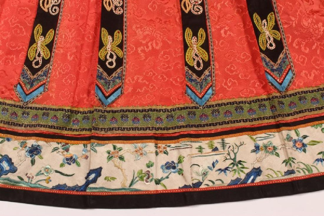 Chinese Late Qing Dynasty Skirt, - 6