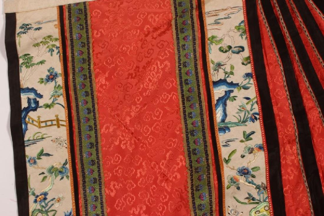 Chinese Late Qing Dynasty Skirt, - 9