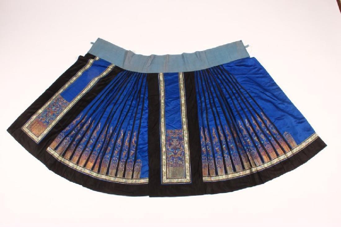 Chinese Qing Dynasty Satin Skirt,