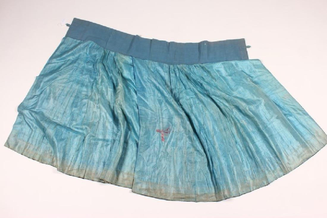 Chinese Qing Dynasty Satin Skirt, - 6