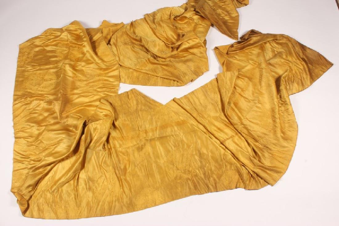 Chinese Late Qing Dynasty Yellow Brocade Silk,