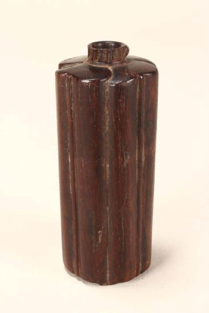 Wonderful Japanese Meiji Period Carved Wooden Vase