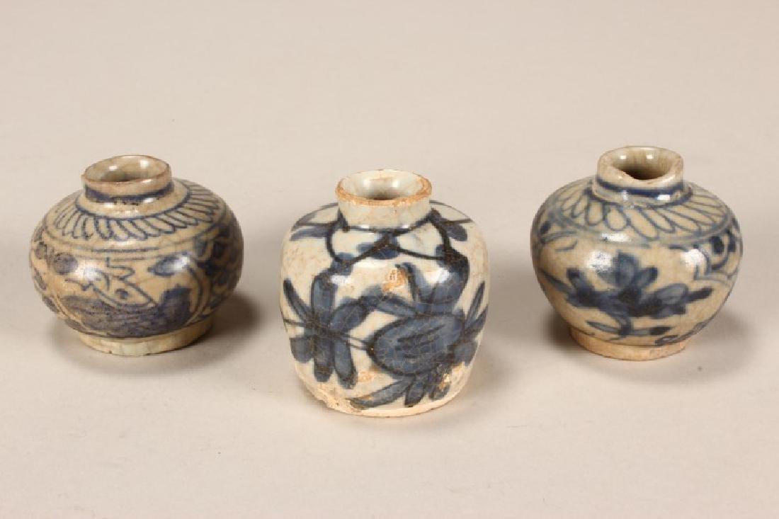 Three Ming Dynasty Porcelain Jarlets,
