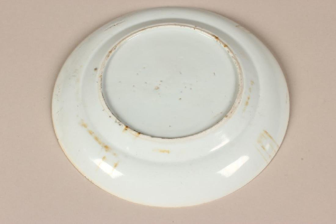 Chinese Late Qing Dynasty Famille Vert Plate, - 4