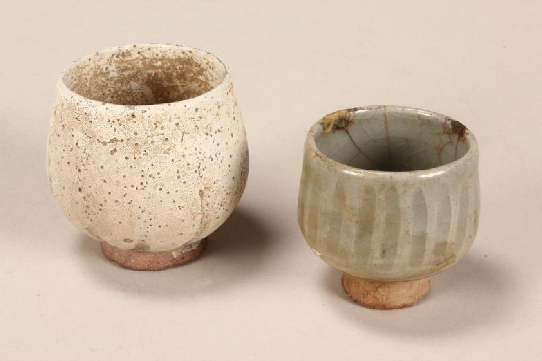 Two Early Stoneware Tea Bowls,