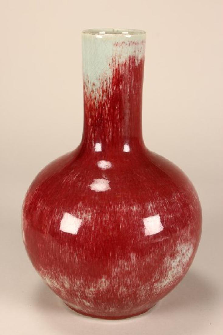 Chinese Peach Blossum Glazed Vase