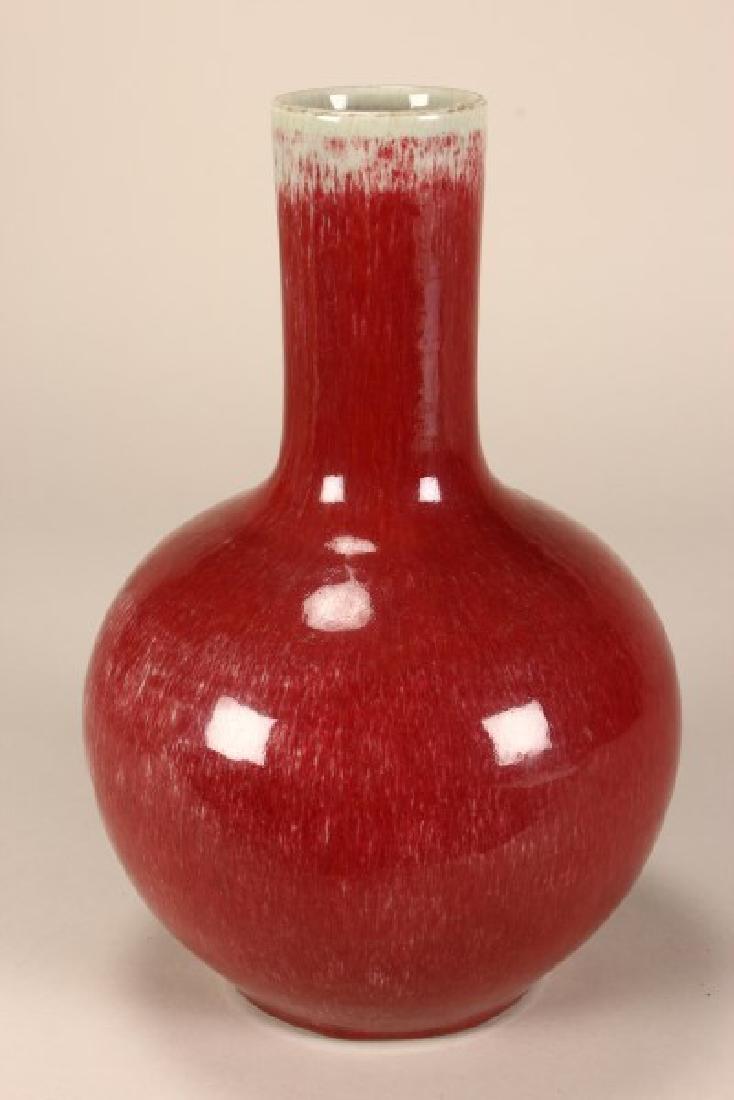 Chinese Peach Blossum Glazed Vase - 2
