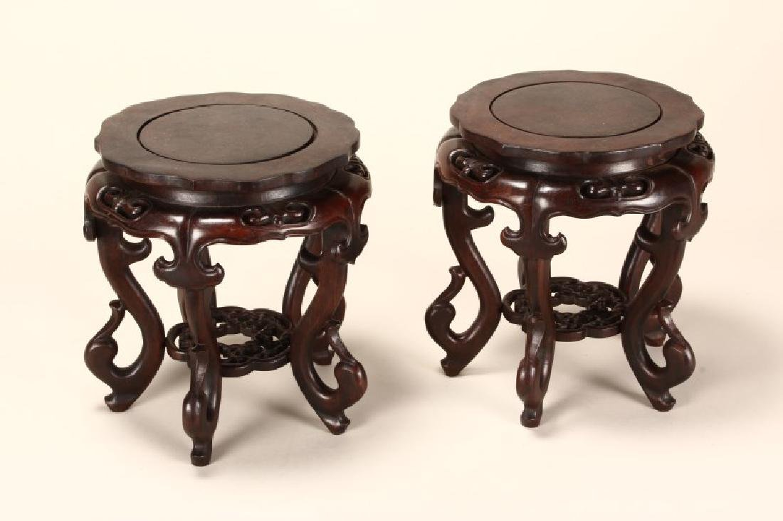 Large Pair of Chinese Wooden Stands,