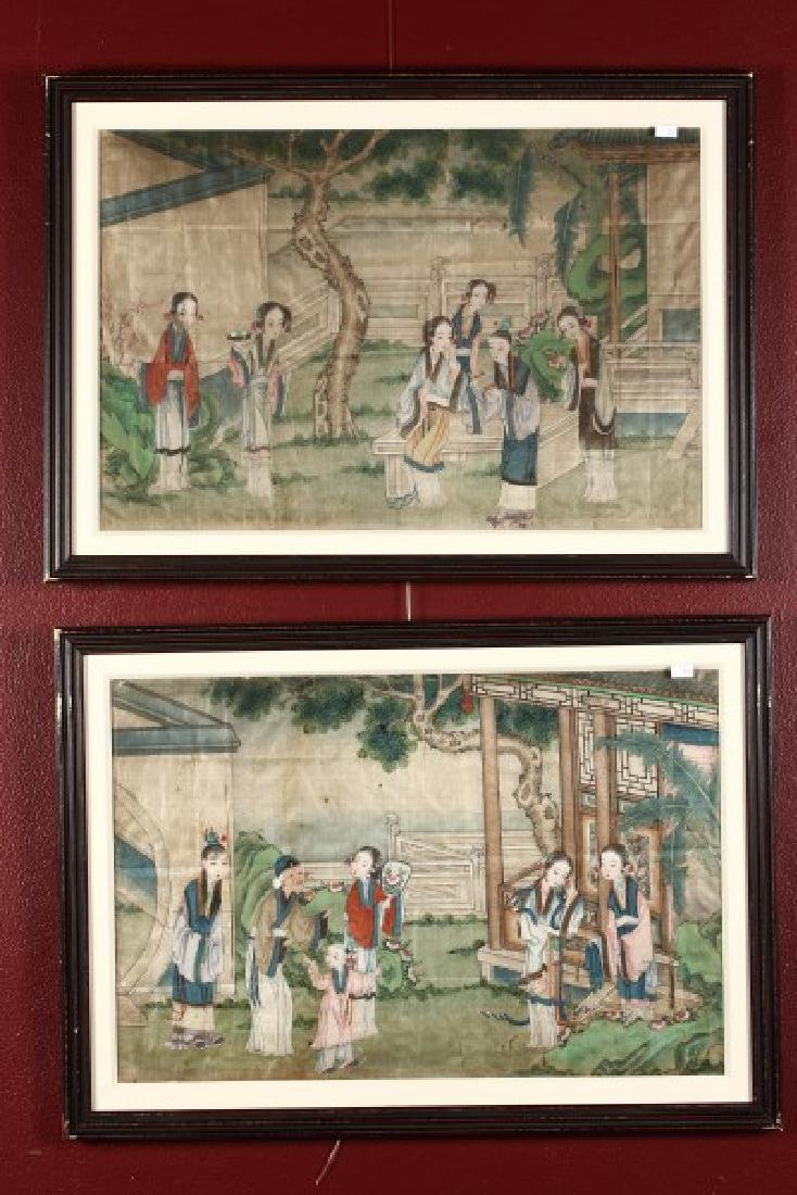 Pair of Framed Chinese Art Works,