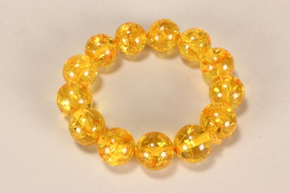 Chinese Bracelet in Faux Amber,