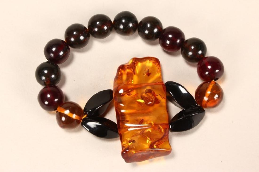 Stretch Baltic Amber Bead Bracelet