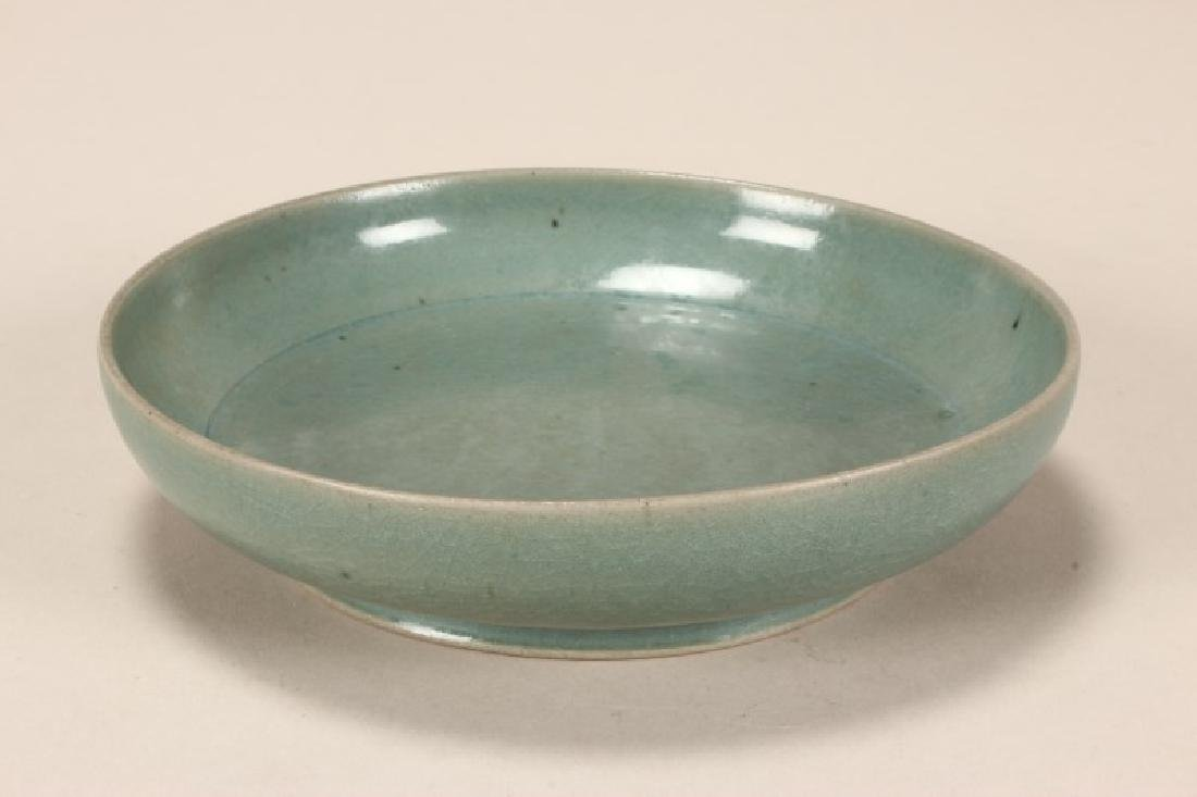 Chinese Celadon/Jun Glaze Dish,