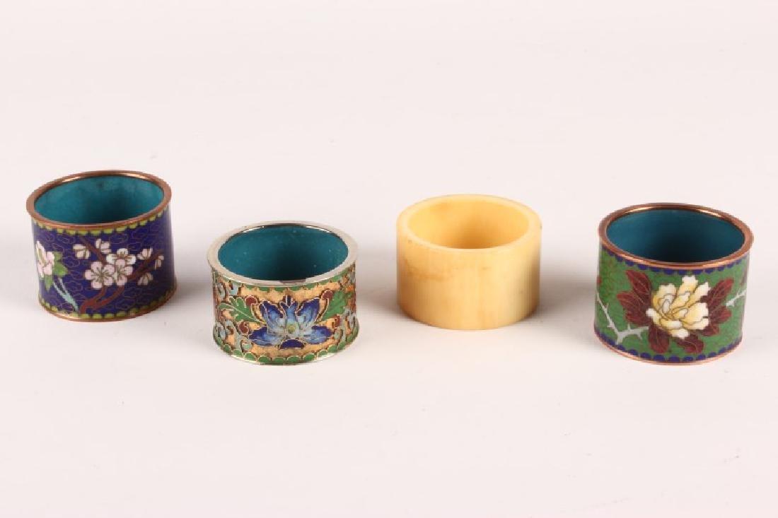 Three Chinese Cloisonne Napkin Ring,