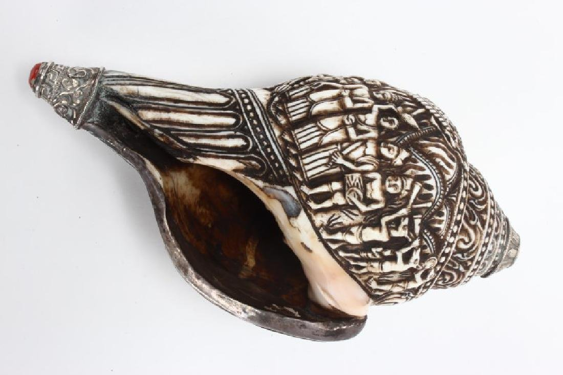 Engraved Conch Shell Horn,
