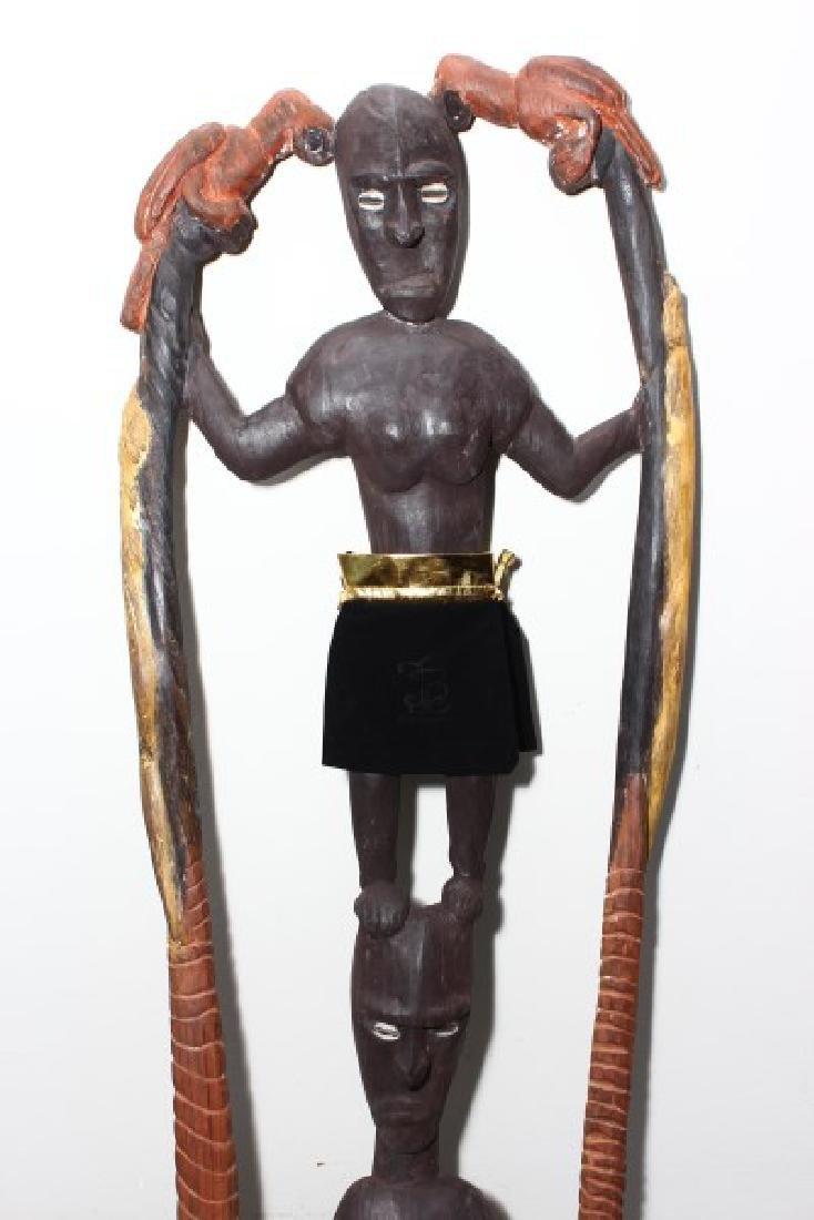 Papua New Guinea Figural Hook, - 2