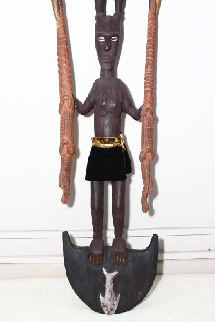 Papua New Guinea Figural Hook, - 3
