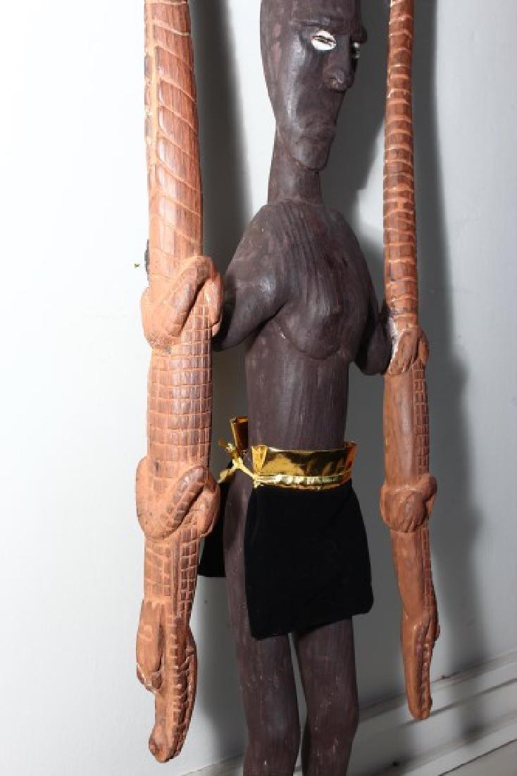 Papua New Guinea Figural Hook, - 4