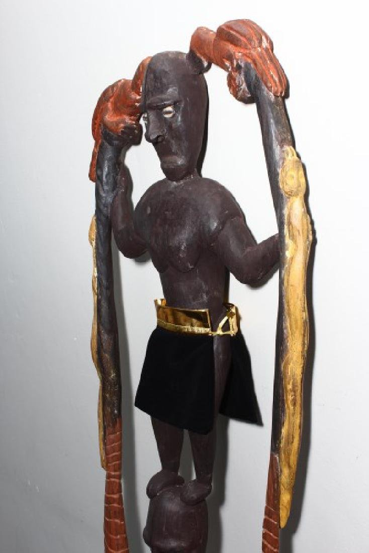 Papua New Guinea Figural Hook, - 5