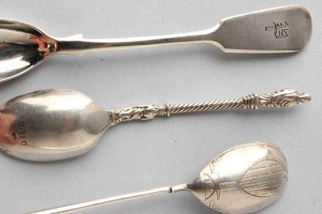 Three Silver Spoons, - 3