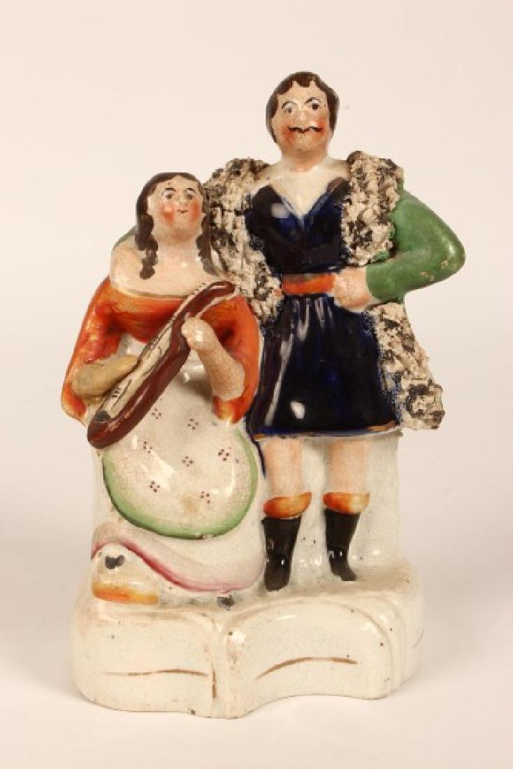 19th Century Staffordshire Figure Group,