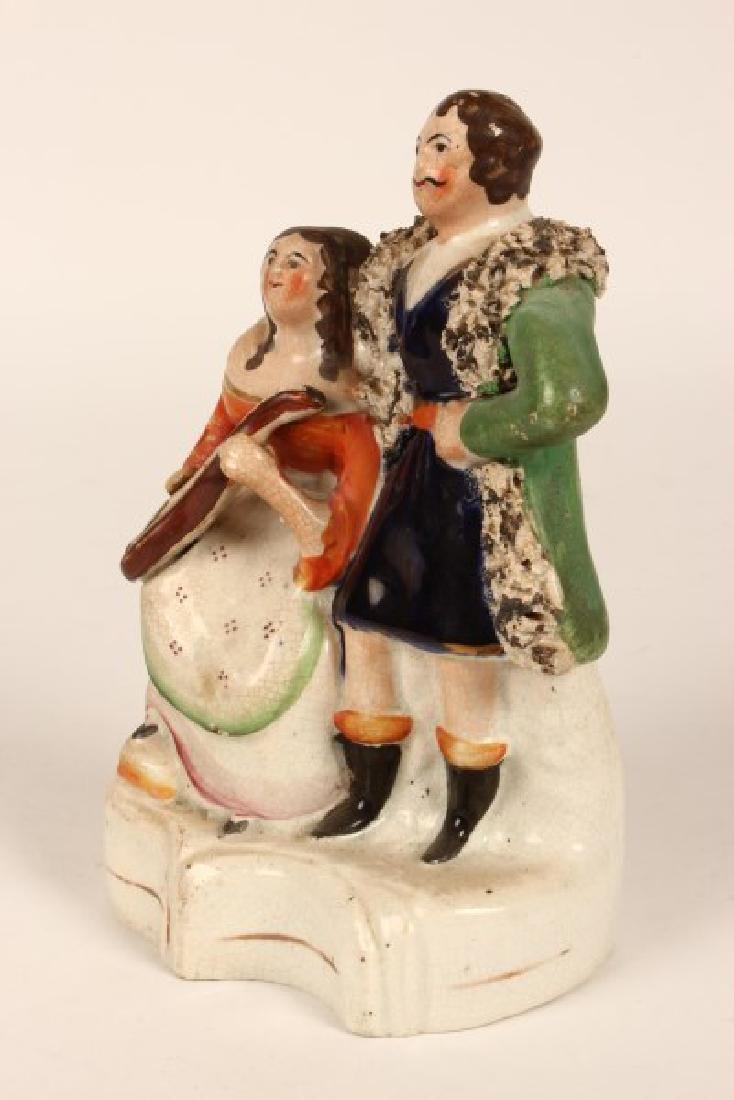 19th Century Staffordshire Figure Group, - 2