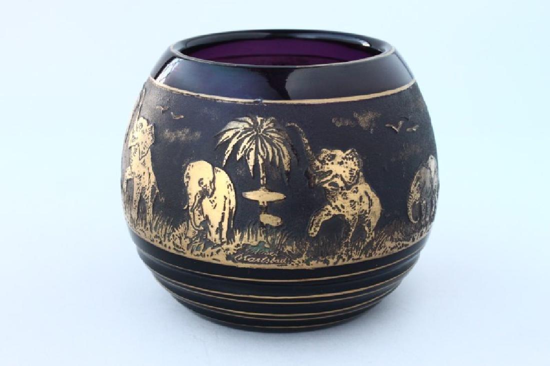 Moser Cameo Glass Vase,