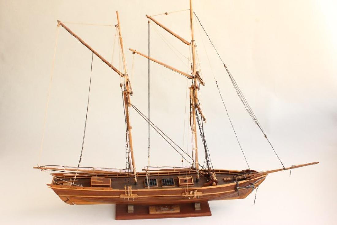 Excellent Wooden Model Schooner  'Emma',