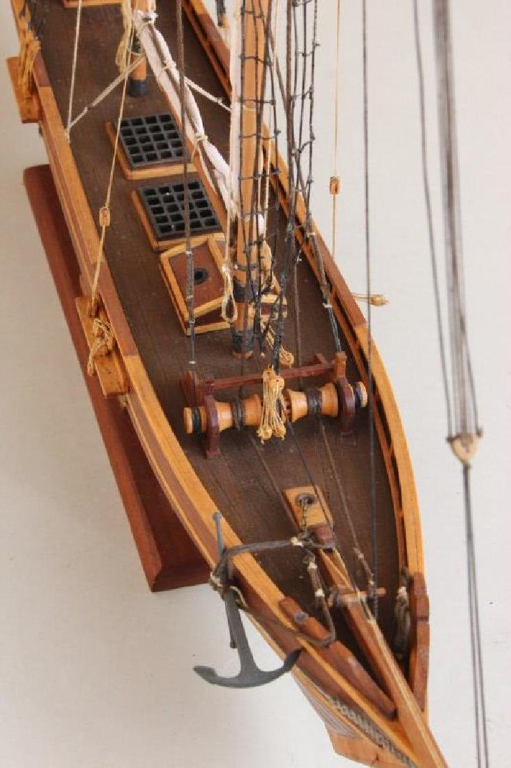 Excellent Wooden Model Schooner  'Emma', - 4