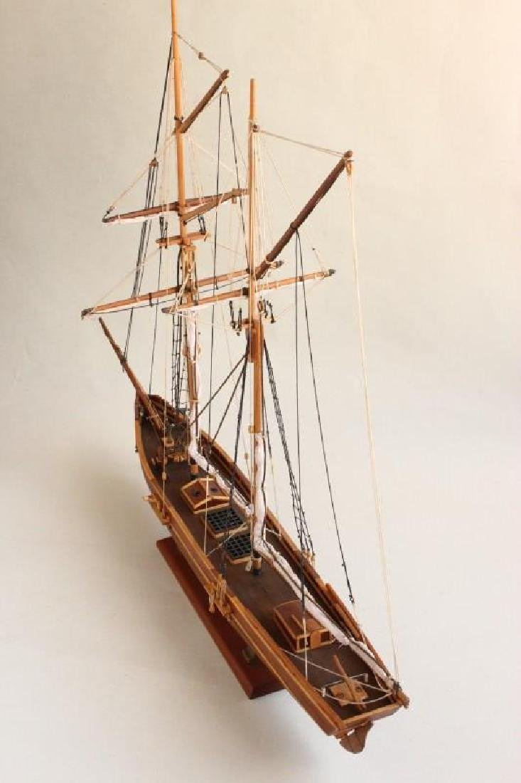 Excellent Wooden Model Schooner  'Emma', - 7