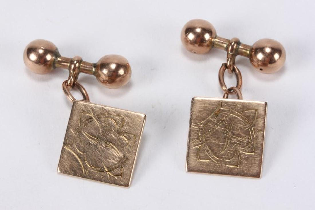 Pair of Edwardian 15ct Gold Cuff Links,