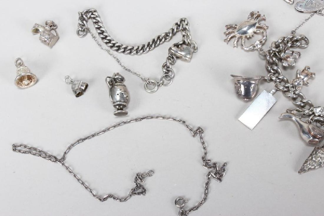 Sterling Silver Charm Bracelet and Charms - 2