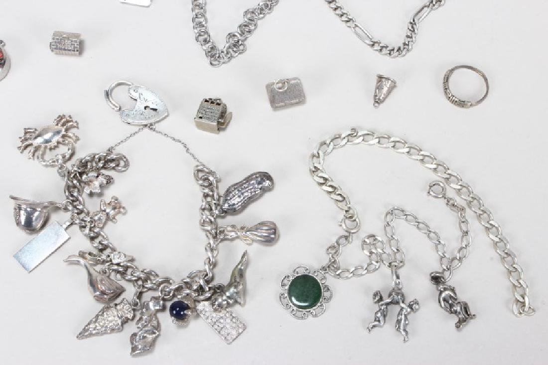 Sterling Silver Charm Bracelet and Charms - 3