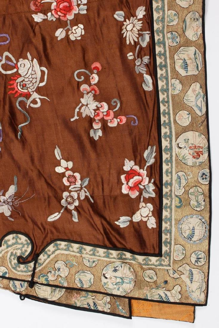 Chinese Late Qing Dynasty Long Silk Gown, - 3