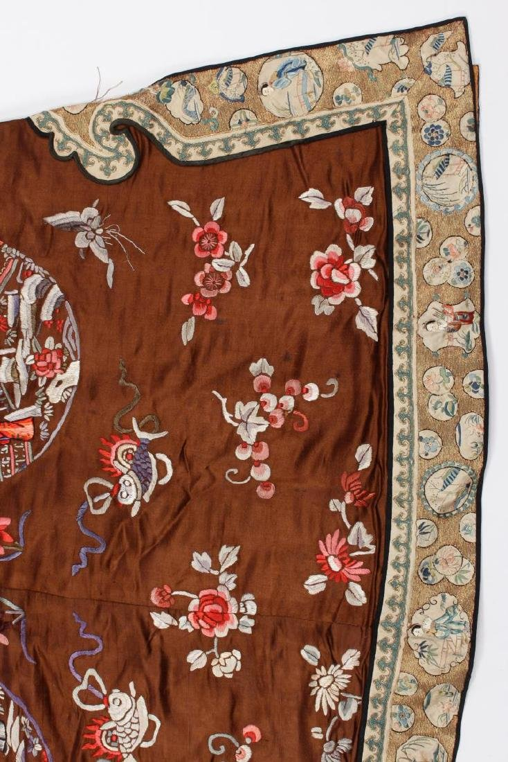 Chinese Late Qing Dynasty Long Silk Gown, - 4