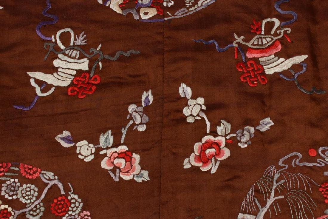 Chinese Late Qing Dynasty Long Silk Gown, - 9