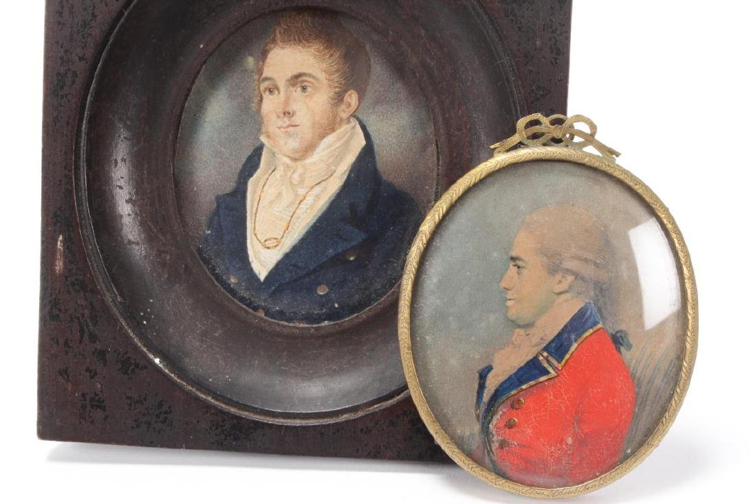 Good 19th Century Portrait Miniature of Gentleman, - 2