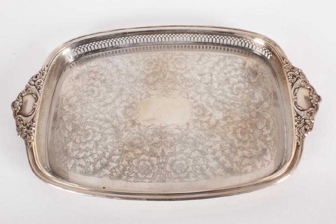 Victorian Silver Plate Five Piece Tea Set, - 5