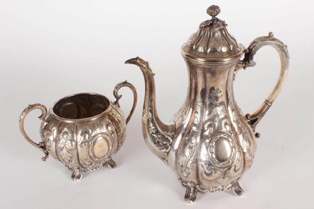 Victorian Silver Plate Five Piece Tea Set, - 7