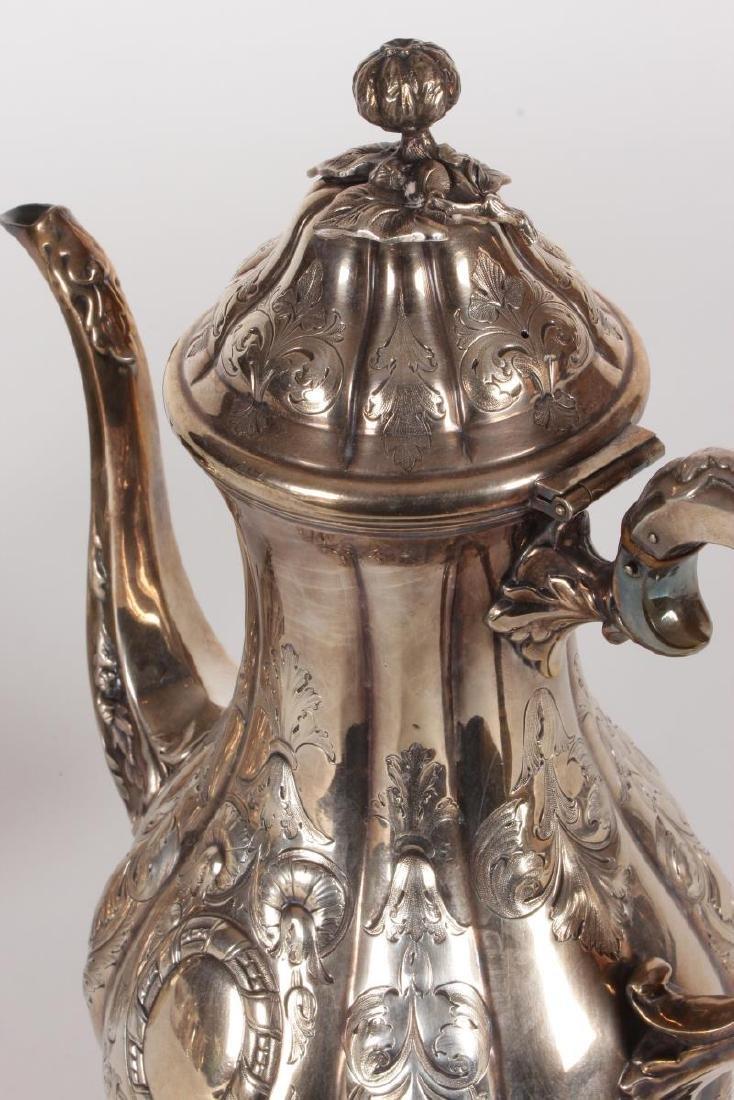Victorian Silver Plate Five Piece Tea Set, - 8