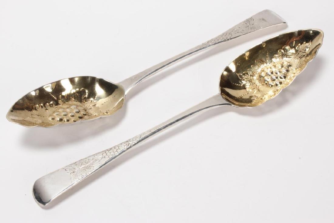 Pair of George III Sterling Silver Jam Spoons,